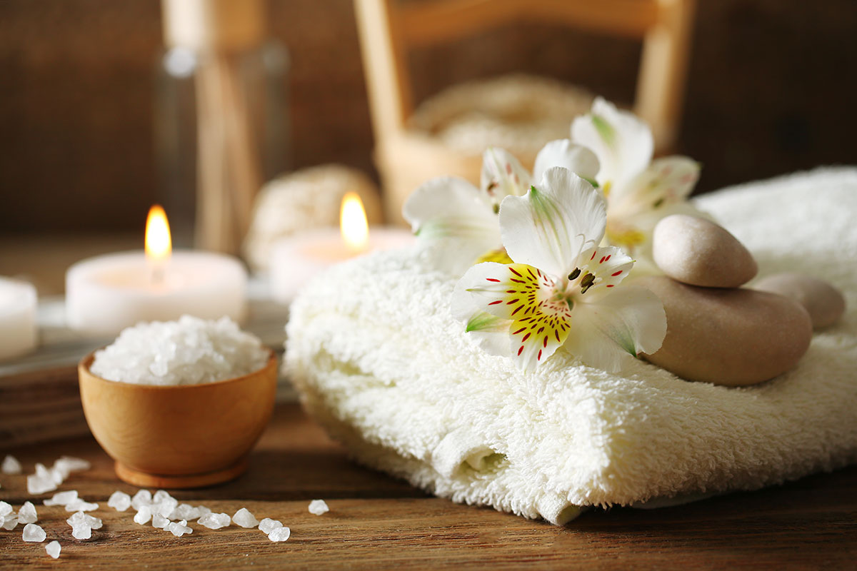 In tent spa treatments